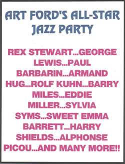 Art Ford's All-Star Jazz Party