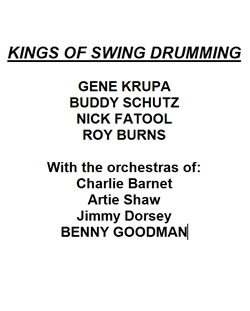 KINGS OF SWING DRUMMING